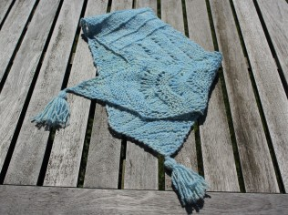 one skein version of beach day scarf